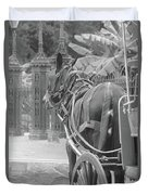 Horse In The Quarter Duvet Cover