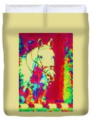 Horse Painting Jumper No Faults Psychedelic Duvet Cover