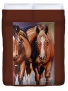 Horse Oil Painting Duvet Cover