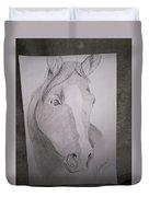 Horse On Paper  Duvet Cover