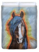 Horse Orange Duvet Cover