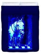 Horse Painting Jumper No Faults Blue Duvet Cover