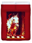 Horse Painting Jumper No Faults Deep Blues And Reds Duvet Cover