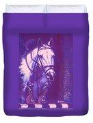 Horse Painting Jumper No Faults Lavender Duvet Cover