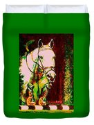 Horse Painting Jumper No Faults Reds Greens Duvet Cover