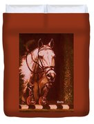 Horse Painting Jumper No Faults Soft Browns Duvet Cover
