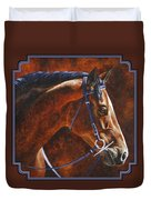 Horse Painting - Ziggy Duvet Cover