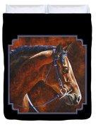 Horse Painting - Ziggy Duvet Cover