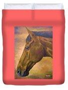 horse portraint PRINCETON pastel colors Duvet Cover