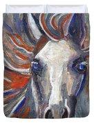 Horse Portrait 101 Duvet Cover