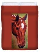 Horse Portrait Horse Head Red Close Up Duvet Cover