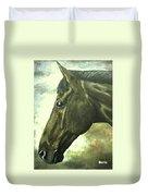horse portrait PRINCETON bright light Duvet Cover