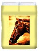 horse portrait PRINCETON brown tones Duvet Cover