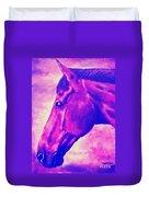 horse portrait PRINCETON pink Duvet Cover
