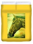 horse portrait PRINCETON soft colors Duvet Cover