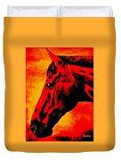 horse portrait PRINCETON sunset Duvet Cover
