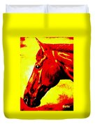 horse portrait PRINCETON yellow and red Duvet Cover