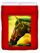 horse portrait PRINCETON yellow Duvet Cover