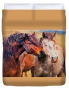 Horse Snuggle Duvet Cover
