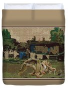 Horse Statue In The Field 1 Duvet Cover