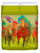 Horse Tracking Duvet Cover
