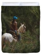 Horseback Riding Kauai Trail Duvet Cover