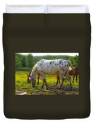 Horses And Buttercups Duvet Cover