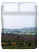Horses At Lough Arrow County Sligo Ireland Duvet Cover