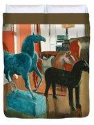 Horses Four Duvet Cover