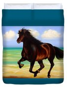 Horses In Paradise  Run Duvet Cover