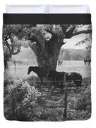 Horses In The Pasture Duvet Cover