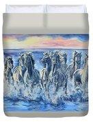 Horses Of The Sea Duvet Cover