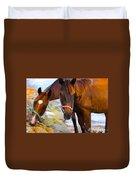 Horses On Jost  Duvet Cover