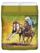 Horses On The Run Duvet Cover