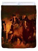 Horses Paintings 34b Duvet Cover