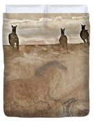 Horses Run With Us Collage Duvet Cover