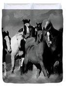 Horses Stampede 01 Duvet Cover