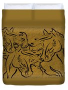 Horses Three Duvet Cover