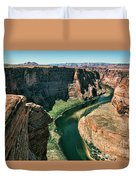 Horseshoe Bend Arizona Colorado River  Duvet Cover
