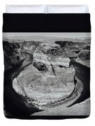 Horseshoe Bend In Black And White Duvet Cover