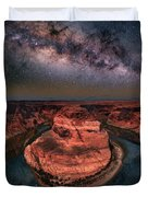 Horseshoe Bend With Milkyway Duvet Cover