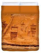 Horseshoe Canyon Great Gallery Group 3 Pictographs Duvet Cover