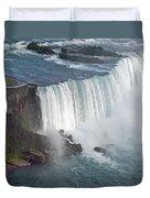 Horseshoe Falls At Niagara Duvet Cover