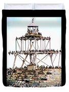 Horseshoe Reef Lighthouse 3 Duvet Cover