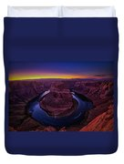 Horseshoe Sunset Duvet Cover