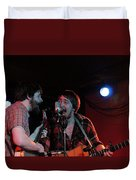 Horseshoes And Hand Grenades Turf Club Duvet Cover