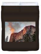 Horsetail Falls Cloudy Sunset Duvet Cover