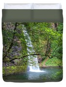Horsetail Falls, Oregon Duvet Cover
