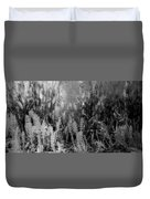 Horsetail Plant Panorama Two  Duvet Cover