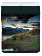 Horsetooth Reservior At Sunset Duvet Cover
